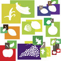 Abstract fruit set in color. Design element Royalty Free Stock Photo