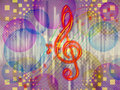 Abstract funky music background Royalty Free Stock Photo