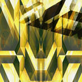 Abstract futuristic background with geometric shapes reminiscent of modern architecture Royalty Free Stock Photo