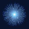 Abstract futuristic bright starlight background
