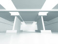 Abstract Futuristic Modern Interior Architecture Background Royalty Free Stock Photo