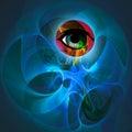 Abstract Futuristic Purple Eye Illustration Royalty Free Stock Photo