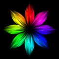 Abstract futuristic rainbow flower Royalty Free Stock Photo