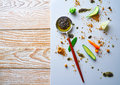 Abstract gastronomy vanguard concept molecular cuisine Royalty Free Stock Photo