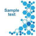 Abstract geometric background with blue hexagons. Vector illustration