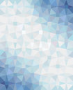 Abstract geometric background with blue white blue gradient vector illustration Royalty Free Stock Images