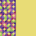 Abstract geometric background with circles colorful pattern of circles Royalty Free Stock Images