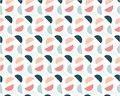 Abstract geometric background of colored circles on a white background