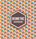 Abstract geometric background for design. Retro pattern