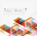 Abstract geometric background modern overlapping triangles unusual color shapes for your message business or tech presentation app Stock Image