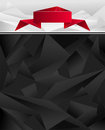 Abstract geometric background with origami ribbon red black white grey colors Stock Photo