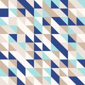 Mint-gold-navy blue, random colored abstract geometric mosaic pattern background Royalty Free Stock Photo