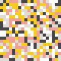 Mustard yellow and grey, pink, white background. Random colored abstract geometric mosaic pattern background Royalty Free Stock Photo