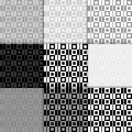 Abstract geometric background. Seamless pattern. Black and white checked print Royalty Free Stock Photo