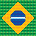Abstract Geometric Background - Seamless Vector Pattern - Illustration Concept on base of Brazil flag Royalty Free Stock Photo