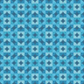 Abstract geometric background vector seamless pattern in blue color for different design works Stock Photos