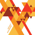 Abstract geometric background vector with triangles in warm colors Stock Image