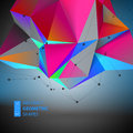 Abstract Geometric backgrounds full Color. Vector illustration
