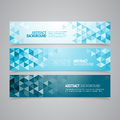 Abstract geometric banners a set of vector banner design that can be used in cover design website background or advertising Royalty Free Stock Photos