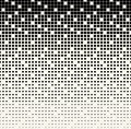 Abstract geometric black and white gradient square halftone pattern