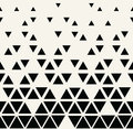 Abstract geometric black and white graphic design triangle halftone pattern