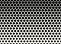 abstract geometric black and white graphic halftone hexagon pattern background