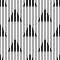 Abstract geometric black and white pattern, narrow and wide lines, triangles. Seamless background