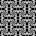 Abstract Geometric black and white square background
