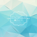 Abstract geometric blue background with frame Stock Image