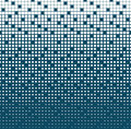 Abstract geometric blue gradient square halftone pattern