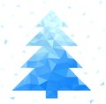 Abstract geometric christmas tree this is file of eps format Stock Image