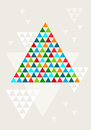 Abstract geometric christmas tree vector colorful background Royalty Free Stock Image