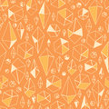 Abstract geometric chrystals seamless pattern vector background with hand drawn elements Royalty Free Stock Photography