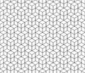 Abstract geometric cube seamless pattern. Simple minimalistic graphic design background, fabric ornament. Vector