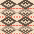 Abstract geometric ethnic rug pattern background seamless Royalty Free Stock Photos