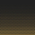 Abstract geometric gold triangle halftone retro vintage seamless pattern. Vector illustration