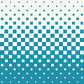 Abstract geometric hipster fashion halftone blue square pattern