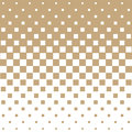 Abstract geometric hipster fashion halftone gold square pattern
