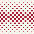 Abstract geometric hipster fashion halftone red square pattern