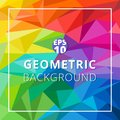 Abstract geometric low polygon colorful background. Triangle pat