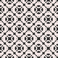 Abstract geometric monochrome seamless pattern in oriental style