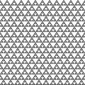 Abstract geometric monochrome seamless pattern with triangles.