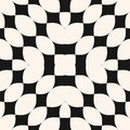 Abstract geometric monochrome seamless pattern. Vector black and white texture