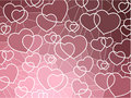 Abstract geometric mosaic hearts background Stock Image