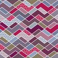 Abstract geometric patchwork pattern vector illustration Stock Photo