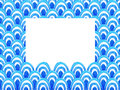 Abstract geometric pattern with blue watercolor wave. Sea background. Royalty Free Stock Photo