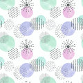 Abstract geometric pattern, Decorative colorful circles .