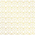 Abstract geometric pattern with lines. White and gold texture. Eps 10 Vector Illustration