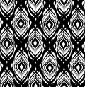 Abstract geometric pattern. Seamless line black and white ornament. Ornamental stylish background. Abstract curly tile texture