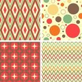 Abstract geometric pattern set Royalty Free Stock Photos
